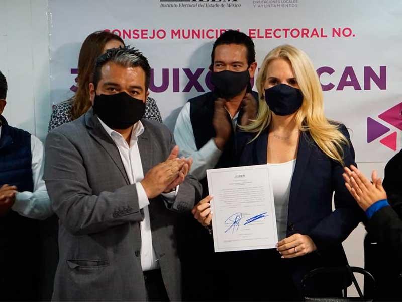 Romina Contreras se convierte en la primera alcaldesa de Huixquilucan