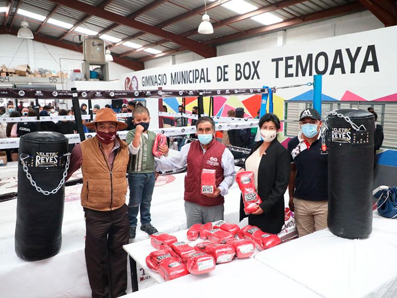 Rehabilitan gimnasio de box en Temoaya